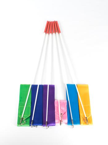 Лента для художественной гимнастики TA sport , с палочкой 56 см,  RGR-201