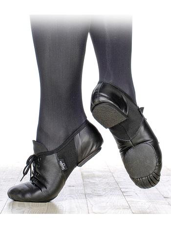Джазовые полуботинки Grishko на подскоке со шнуровкой,раздельная подошва, кирза, 03068К