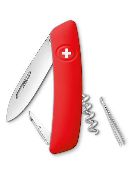 Нож перочинный Swiza D01, 75 мм, 6 функций, с фиксатором лезвия