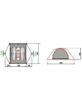 Палатка RockLand Ranger 3 2012 (3 места)
