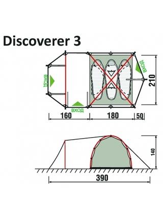 Палатка RockLand Discoverer 3 2014 (3 места)